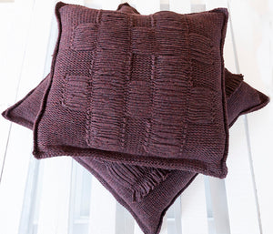 Nancy Cushion in Burgundy (Large)