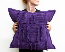 Load image into Gallery viewer, Valerie Cushion in Heather (Large)