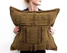 Load image into Gallery viewer, Valerie Cushion in Khaki Green (Large)