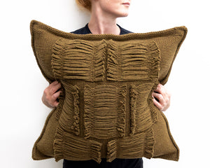 Valerie Cushion in Khaki Green (Large)