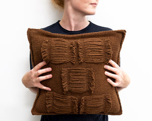 Valerie Cushion in Rust (Small)