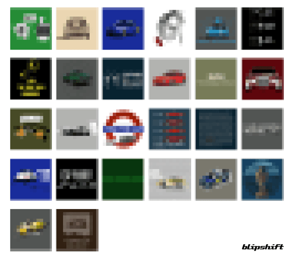 Automn Sale Pixelated Grid