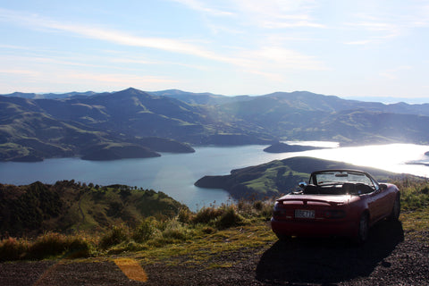 Ben Van Antwerp Mazda Miata in Europe