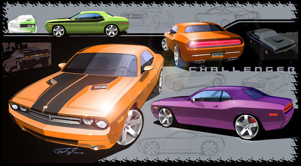 Dodge Challenger Design Sketch