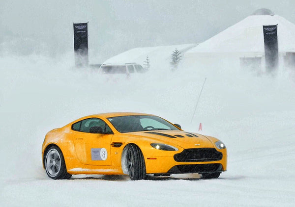 Aston Martin Snow Drifting