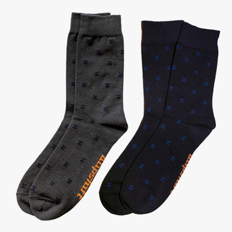 AWEsome socks from Blipshift, 2 Pack Grey & Navy