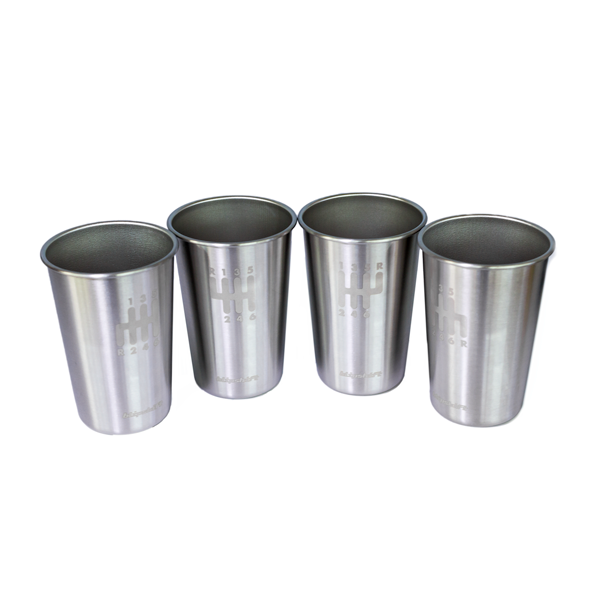 Stainless Shifter Pint Cups