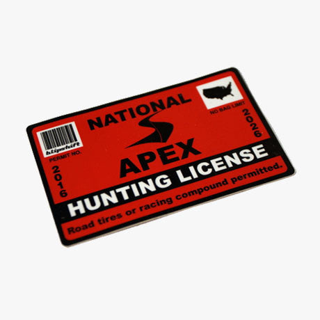 2016 Hunting License Sticker
