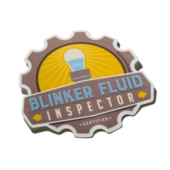 Blinker Fluid Inspector Sticker