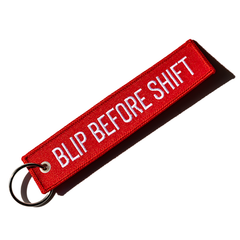 Blip Before Shift Keychain