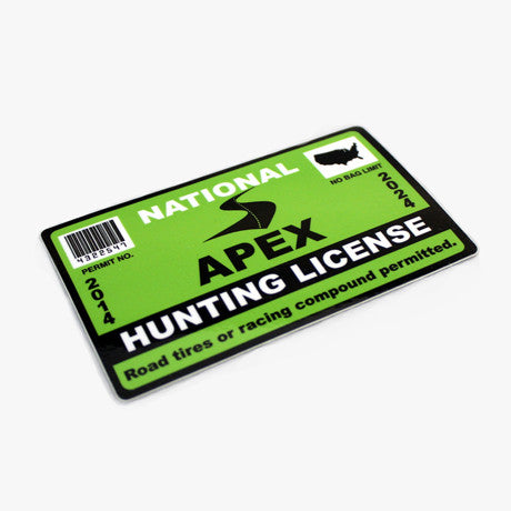 2014 Hunting License Sticker
