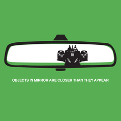 Objects in mirror...