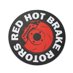 Red Hot Brake Rotors Sticker