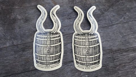 Horny Barrel Stickers - Set of Two