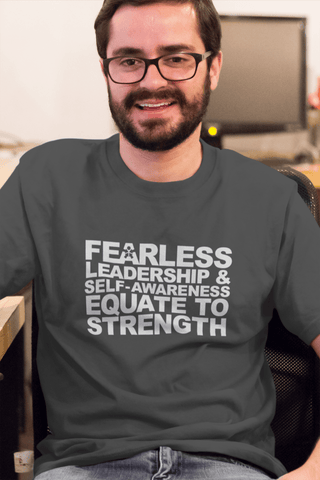 "Image of ""FEARLESS LEADERSHIP AND SELF-AWARENESS EQUATE TO STRENGTH"""