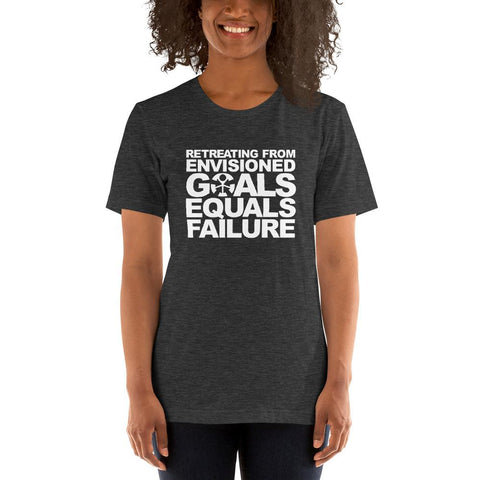 "Image of ""RETREATING FROM ENVISIONED GOALS EQUALS FAILURE."""