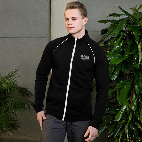 Image of Boss Uncaged Piped Fleece Jacket