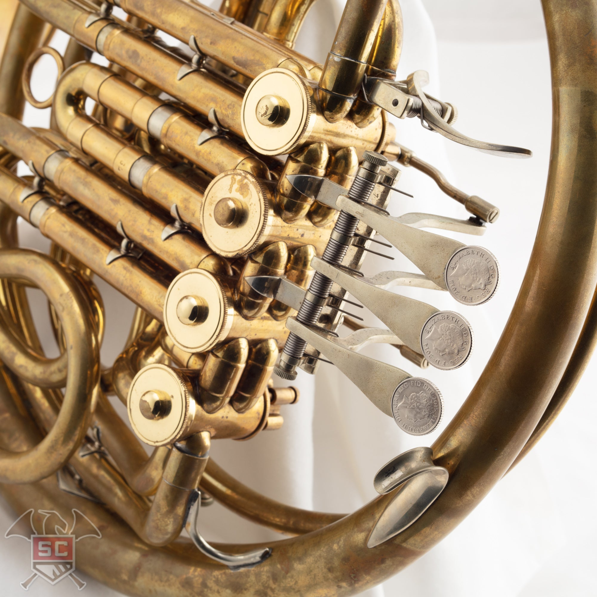 Used Wes Hatch Hoyer/Canadian Brass double horn SN#NA