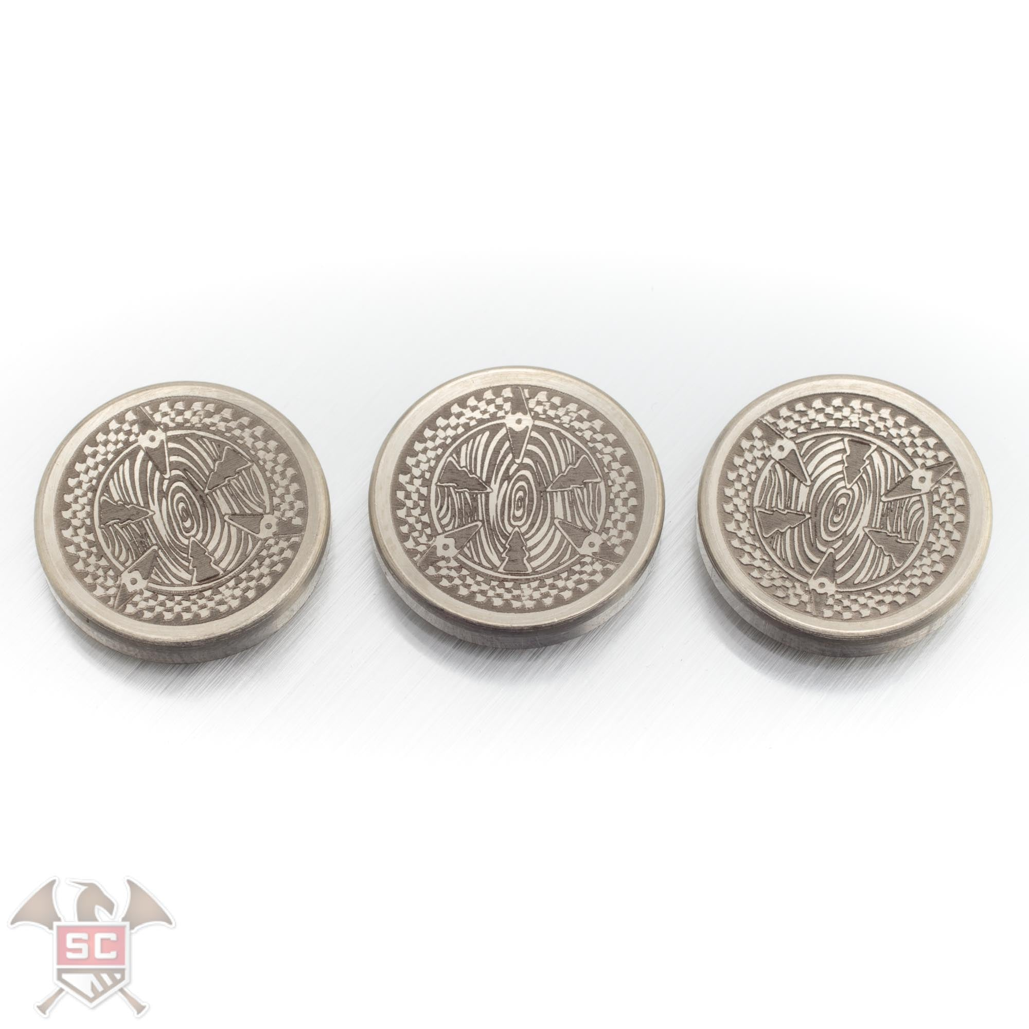 Siegfried's Call Custom Engraved Concave Finger Buttons