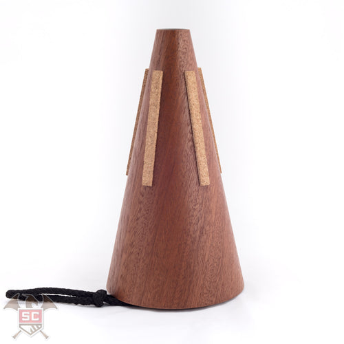 Horn Crafts model Khaya tunable wooden french horn straight mute