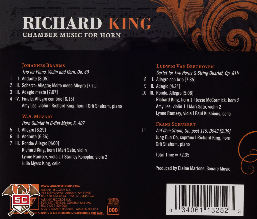 Richard King - Chamber Music For Horn