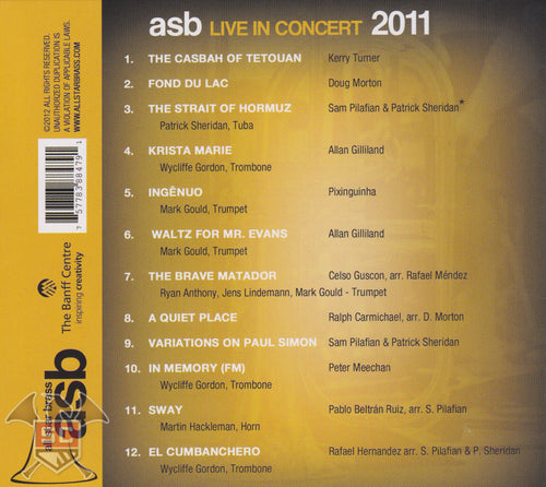 all star brass LIVE IN CONCERT 2011