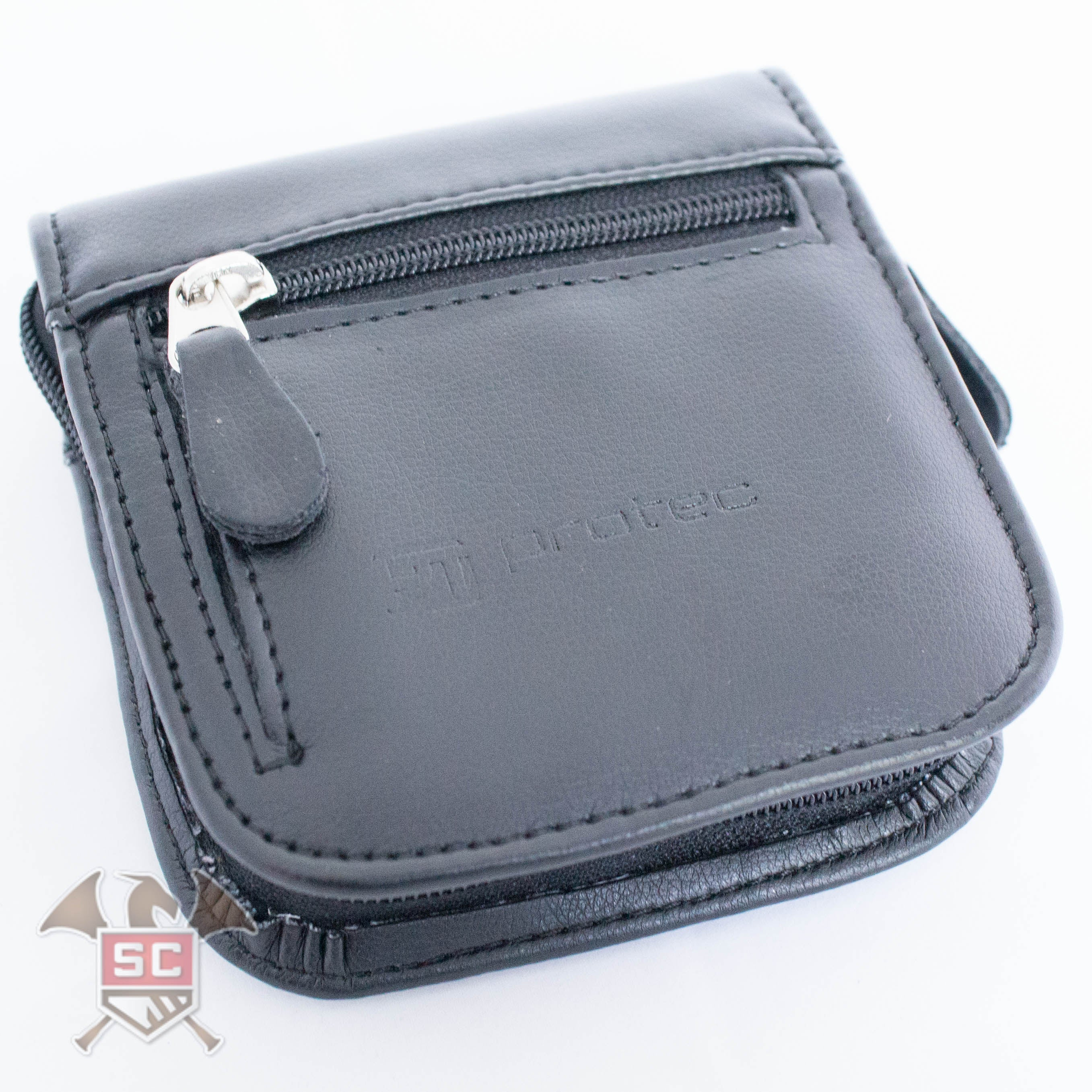 Protec 2 Piece Leather Mouthpiece Pouch - Black