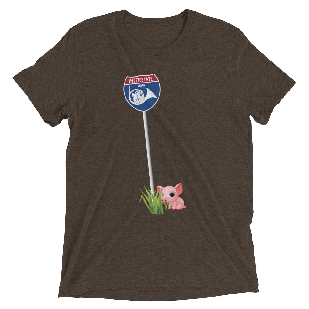 Interstate Horn with Coda, the little piggy - men's short sleeve t-shirt