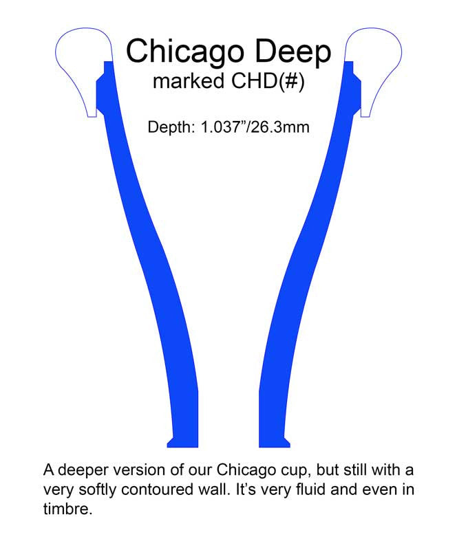 Chicago (deep) French Horn Mouthpiece cup CHD8