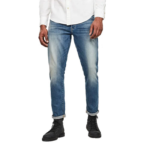 3301 Straight Tapered Jeans-Vintage Azure