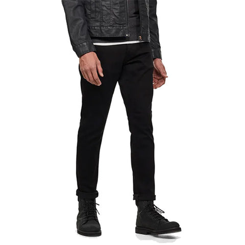 3301 Straight Tapered Jeans-Pitch Black