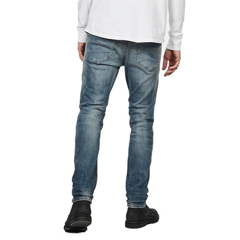 3301 Slim Jeans- Antic Faded Ripped Marine