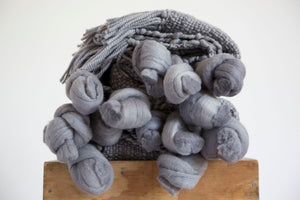 KNOT Throw Blanket in Piedra