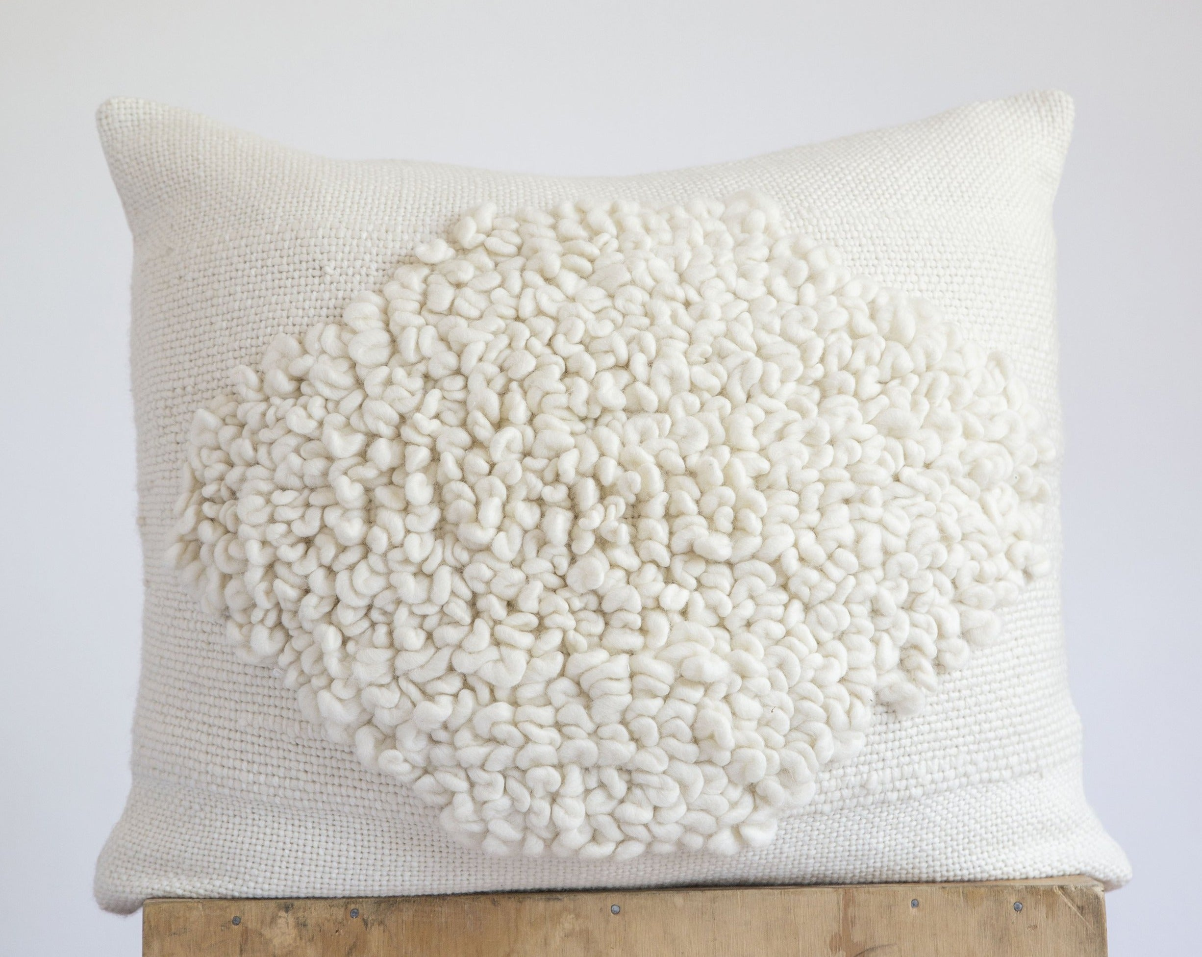 ROMBO Pillow in Ecru