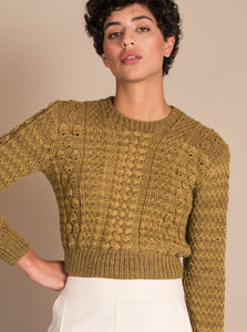 CANASTA Crop Sweater in Green