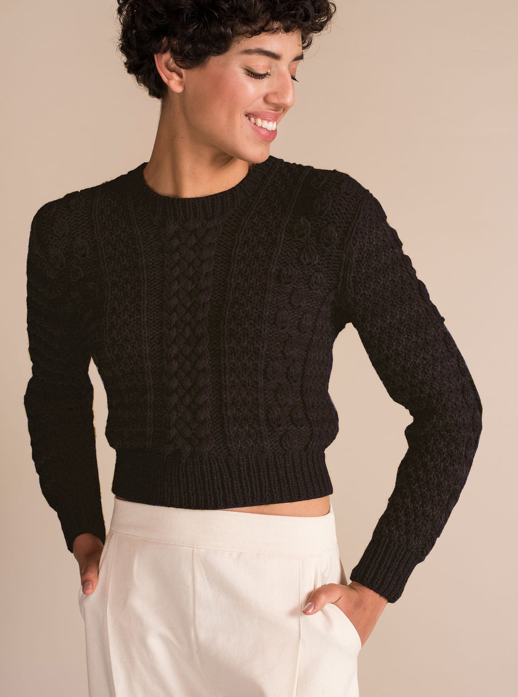 CANASTA Crop Sweater in Black