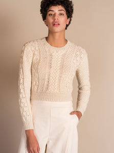 CANASTA Crop Sweater in Ivory