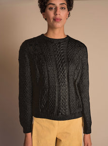 CANASTA Long Sweater in Black