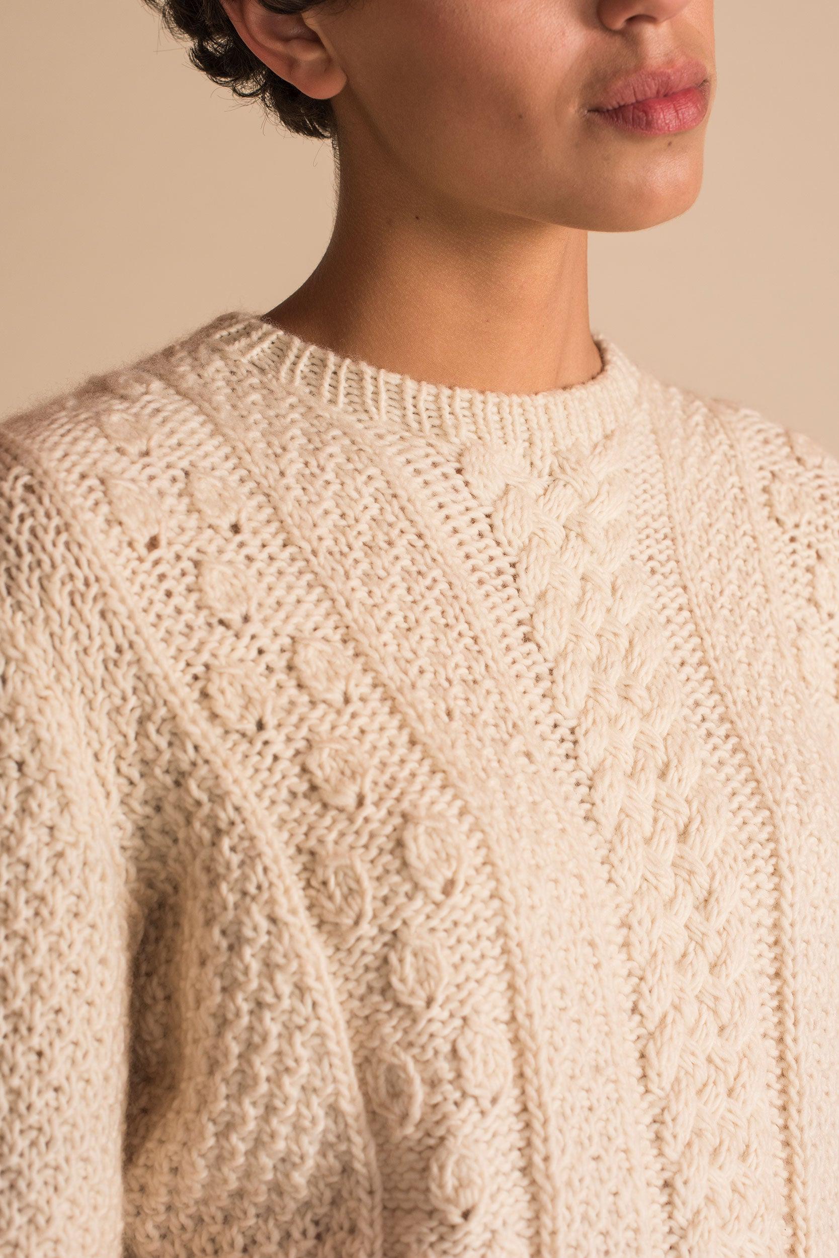 CANASTA Long Sweater in Ivory