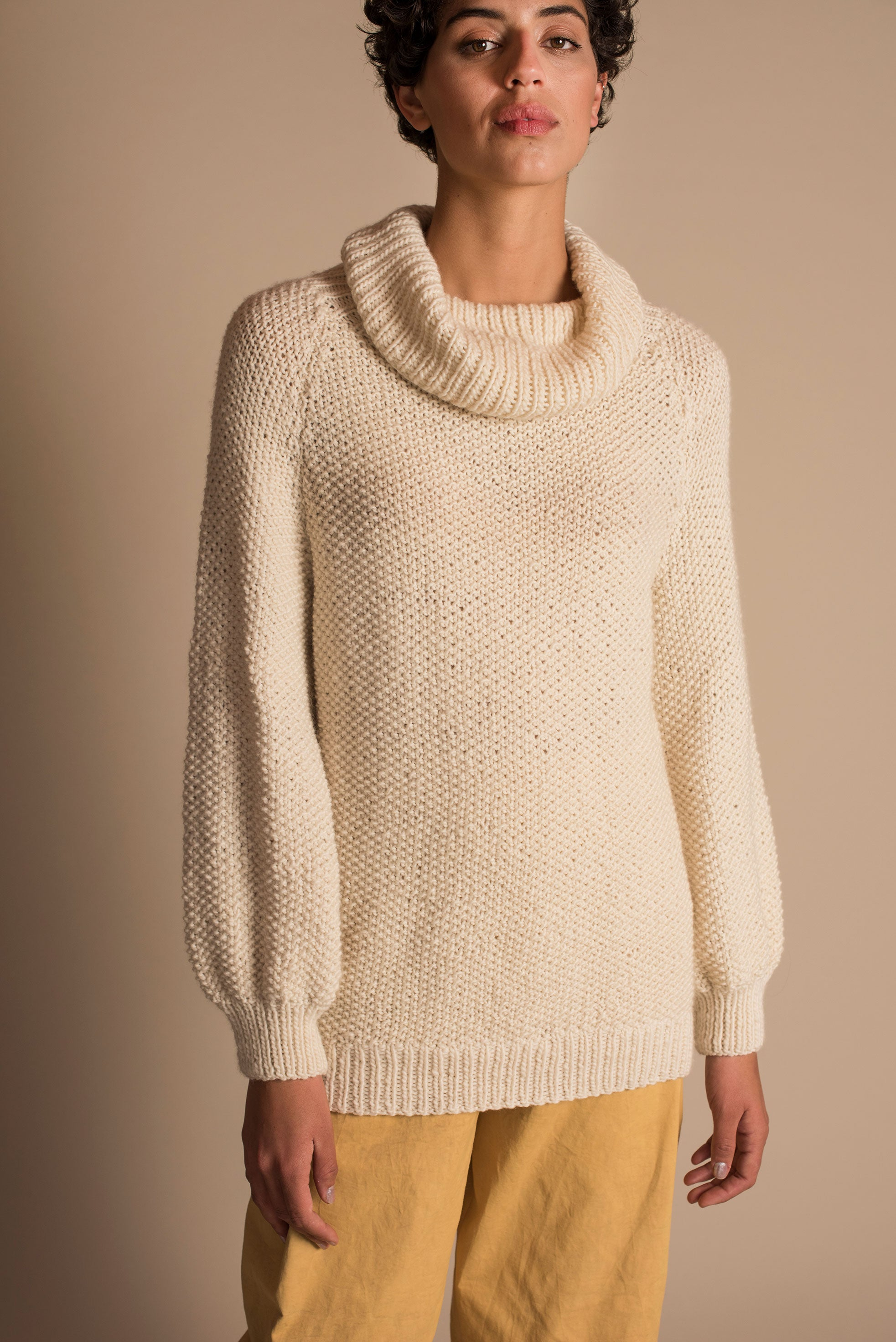 MARTE Long Sweater in Ivory