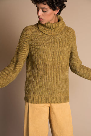 MARTE Long Sweater in Green