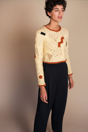 GEO Patchwork Sweater