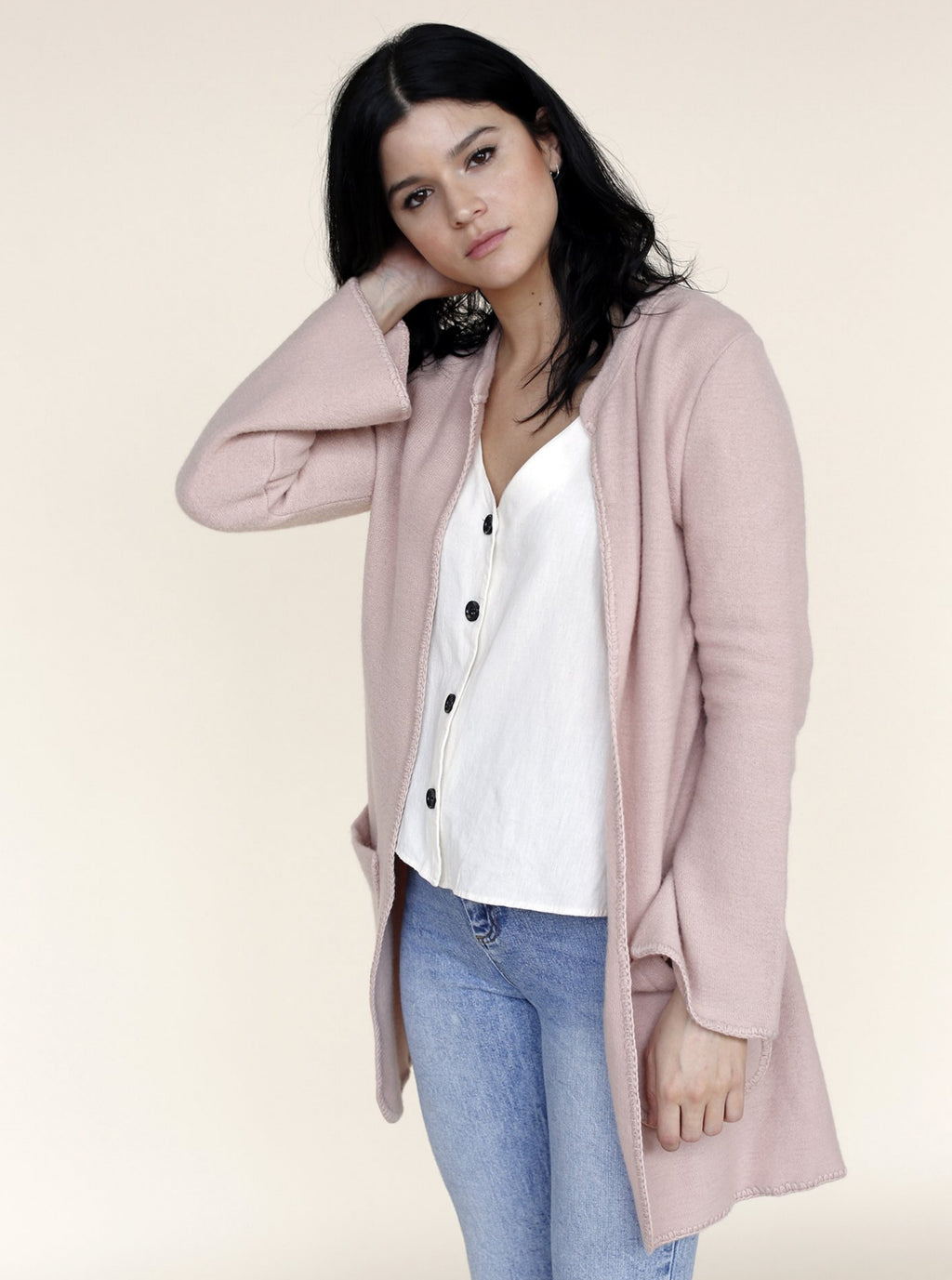 ANA Cardigan in Rose