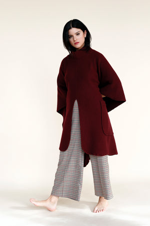JUPITER Poncho in Burgundy