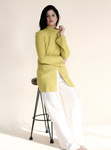NEPTUNO Sweater Dress in Pistacho
