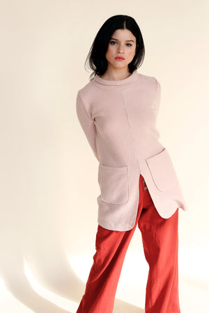NEPTUNO Sweater Dress in Rose