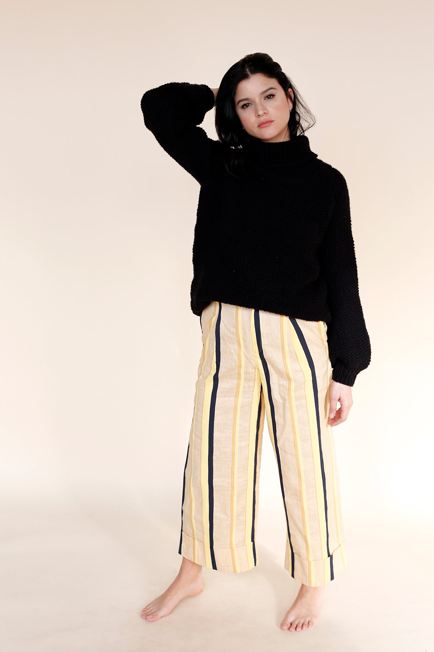 MARTE Long Sweater in Black