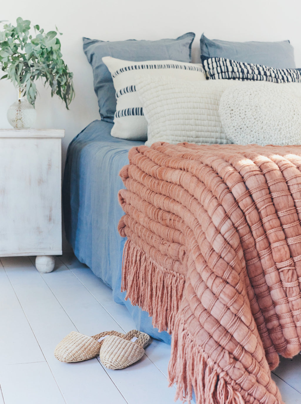 OSMIO Bed Cover in Dusty Rose