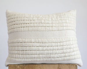 AIRE Rectangle Pillow in Ecru