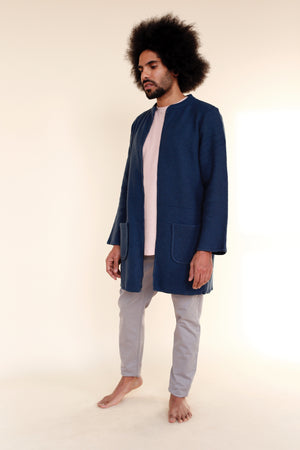 BASTO Cardigan in Blue